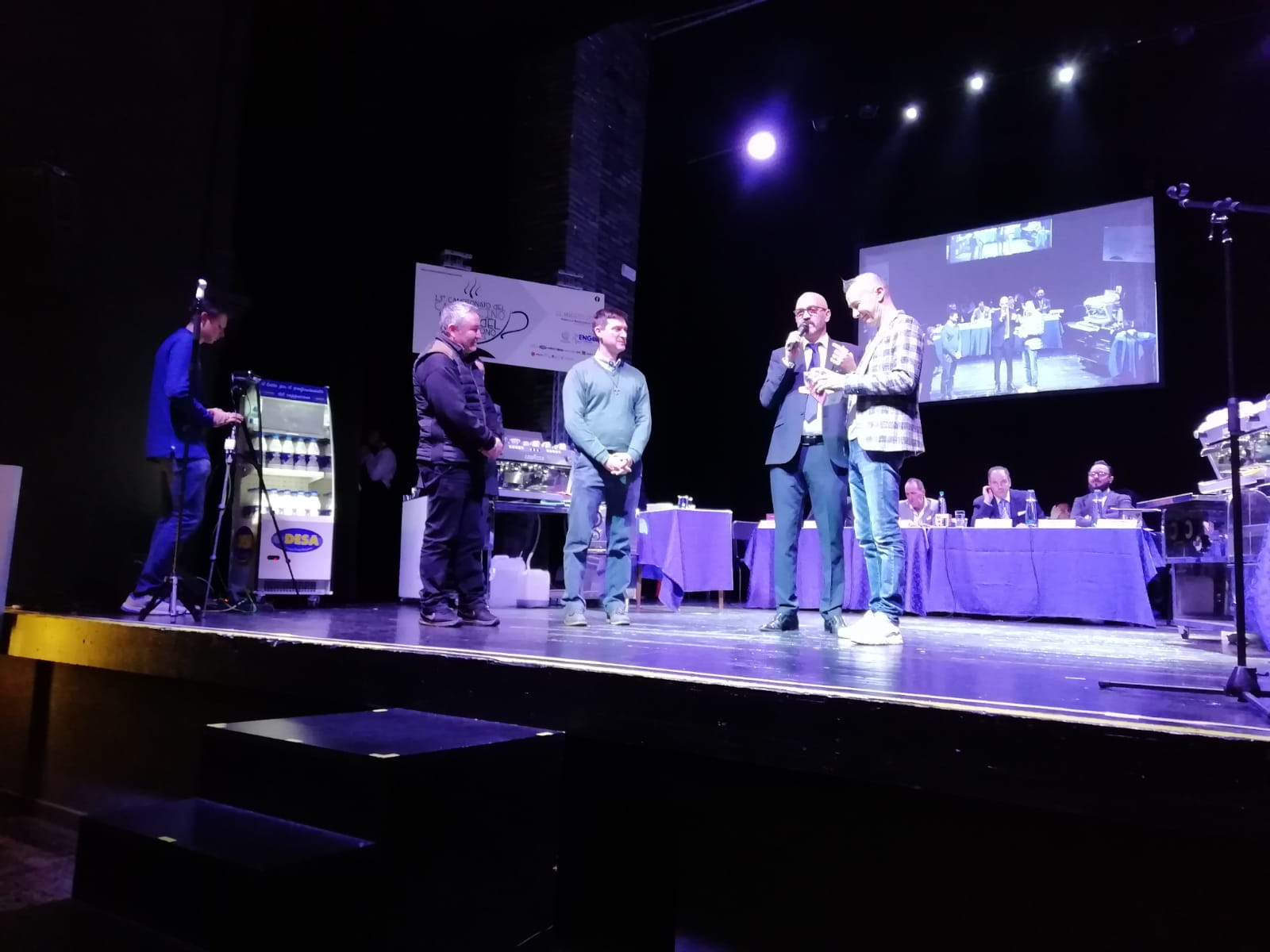 Campionato del Cappuccino Arturo Bracchetti sul palco