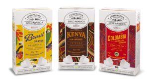 Compagnia dell'arabica Tuttofood Corsini I monorigine della Compagnia dell'Arabica nei nuovi packaging