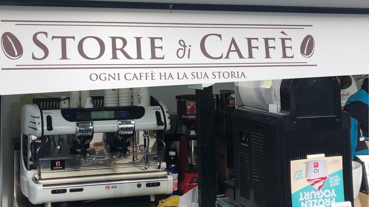 Storie di Caffè internazionali bnl Una macchina La Spazale installata nel bar allestito da Storie di Caffè
