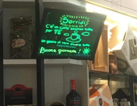caffè sospeso gioco Il display che indica l'aggiudicazione del caffè sospeso