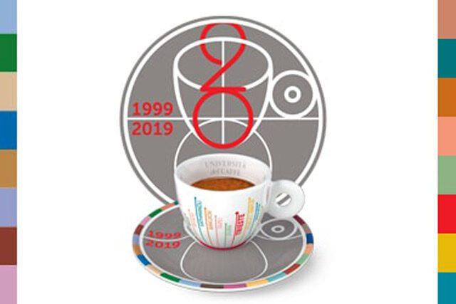 Logo 20 anni Università del caffè