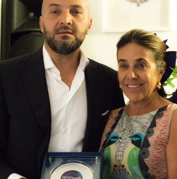 Sergio Barbarisi con l'Ambasciatore della Colombia in Italia, la dottoressa Gloria Isabel Ramirez