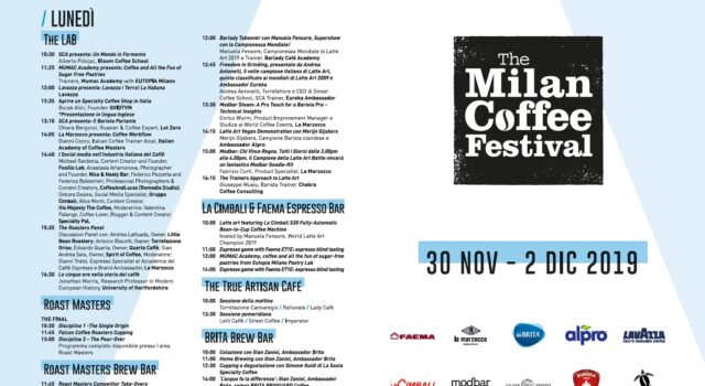 Programma The Milan coffee festival