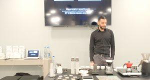 Francesco Masciullo durante la lezione alla Scuola de La Cucina Italiana