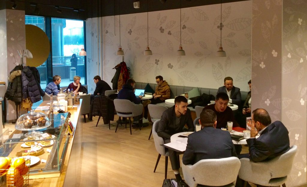 La Caffetteria Adoro Caffè della Torrefazione Oro Caffè a Mosca
