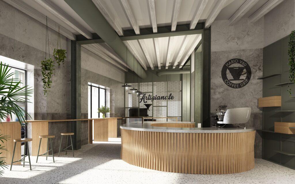 L'interno de La Scuola del caffè di Firenze © Giulio Garosi