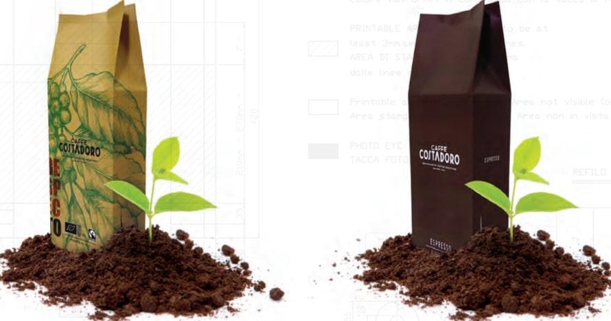 costadoro packaging compostabile