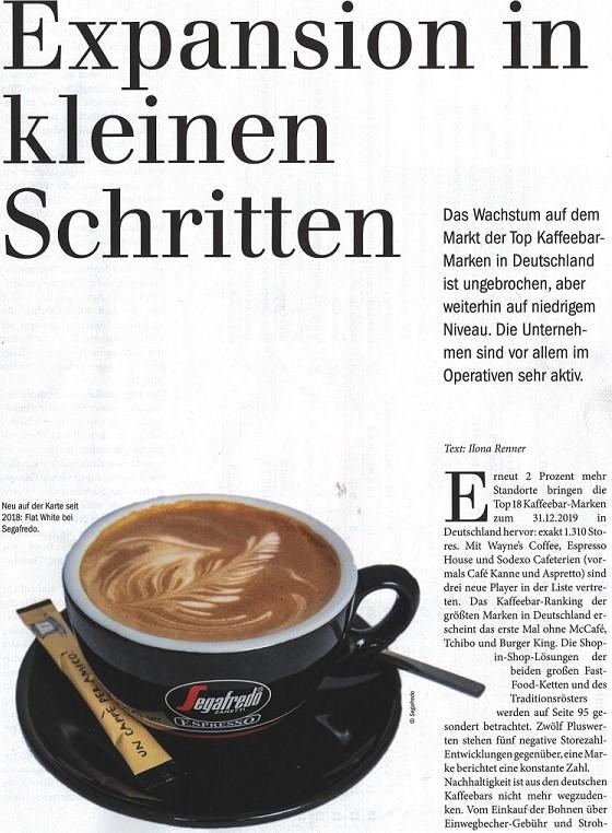 Segafredo Zanetti Al Primo Posto Nella Top Coffee Bars Tedesca