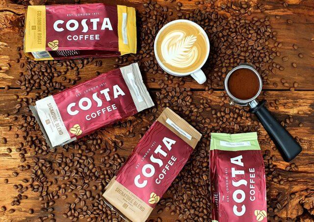 coca cola costa coffee ground