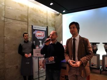 Francesco Sanapo (a sinistra) con Andrej Godina (destra) io bevo caffè di qualità