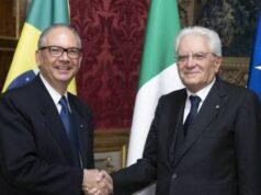 Helio Ramos Amasciatore del Brasile in Italia con il Presidente Sergio Mattarella
