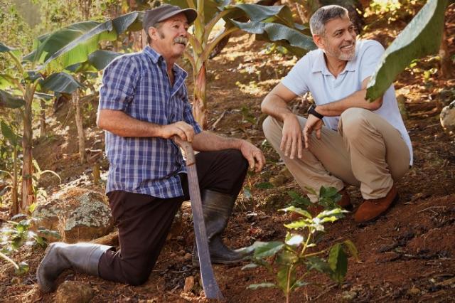 Nespresso Clooney e coltivatore