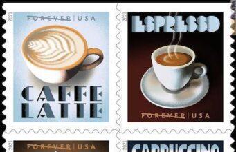 Rito espresso italiano tradizionale francobolli Usa