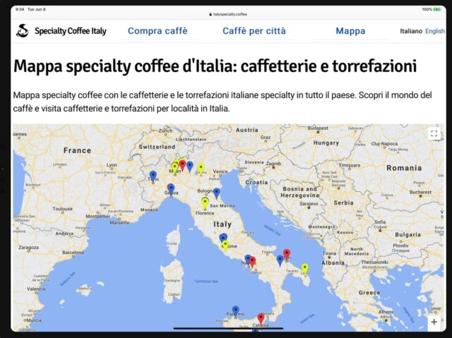 specialty coffee italy