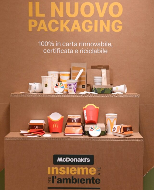 بسته بندی mcdonald sostenibile